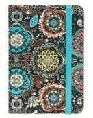 Jazzy Lined Notebook - paisley with teal ribbon